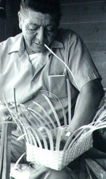 Basket making with John A. Martin