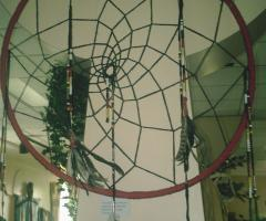 Large dream catcher made by Lita Isaac