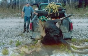 Today with all the trucks owned by hunters, it makes transporting the animal much easier but remains a challenge.