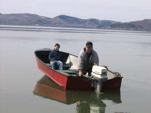 Now a days, boats and motors are more commonly used to fish.