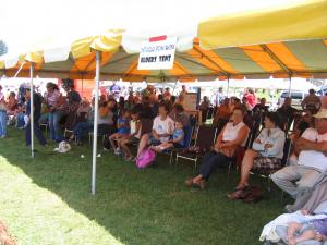 At every Pow Wow there is a special tent for the Elders, it keeps them cool on hot days.