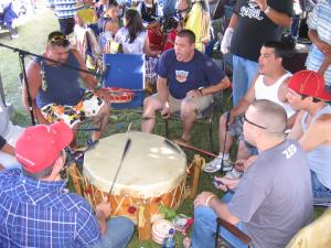These drummers are from Listuguj, they are called Red Horse.