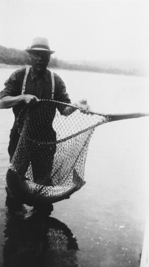 C'est très commun de trouver des gros saumons dans la rivière Restigouche.
