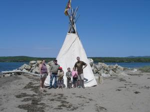 A teepee was a very common structure for homes. Today, you will likely see them at Pow Wows.