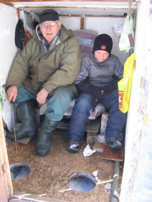When fishing for smelts rods without reels are used. They are called ice rods and the bait used is usually corn or chick gizzard