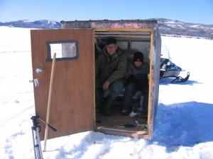 The shanty only shelters you from the wind and winter temperatures so it's important to dress accordingly.