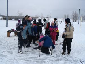 La culture Mi'gmaq a beaucoup d'activité physique comme le patinage sur la glace.