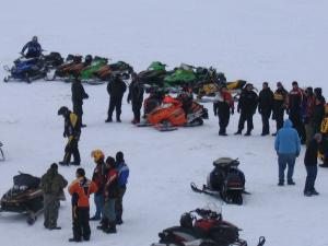 Skidooing is one of the many winter activities where people of different Nationalities join together.