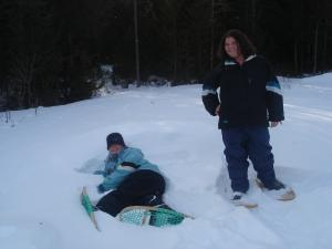 Snow shoeing is how the Mi'gmaq travelled for hunting and transportation during the winter months.